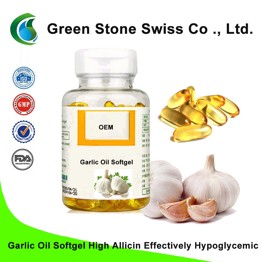 Garlic Oil Softgel High Allicin Effectively Hypoglycemic