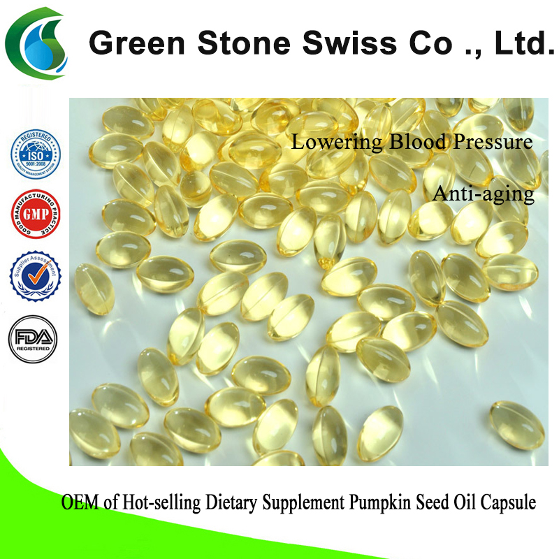 OEM of Hot-selling Dietary Supplement Pumpkin Seed Oil Capsule
