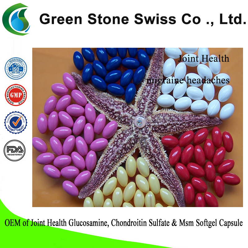 OEM of Joint Health Glucosamine, Chondroitin Sulfate & Msm Softgel Capsule