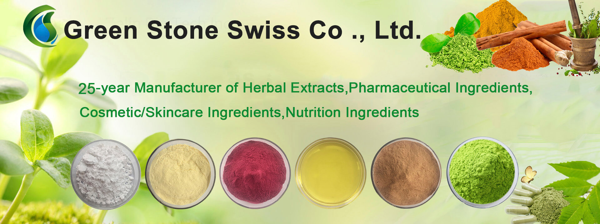 25-year Manufacturer of Herbal Extracts,Pharmaceutical Ingredients, Cosmetic/Skincare Ingredients,Nutrition Ingredients