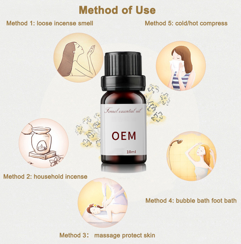 Method of use of fennel essential oil