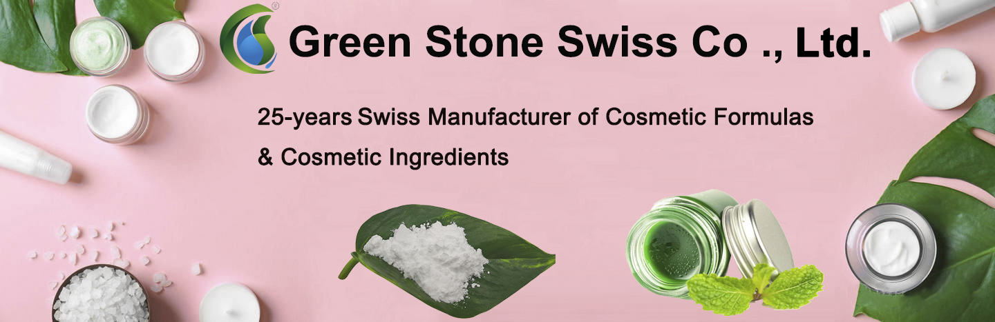 Green Stone Swiss Co ., Ltd. is 25-years Swiss manufacturer of cosmetic formulas & cosmetic ingredients.